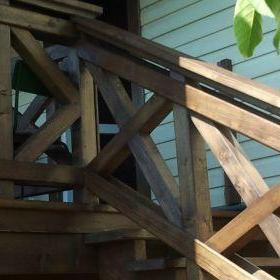 Drewniana balustrada 2